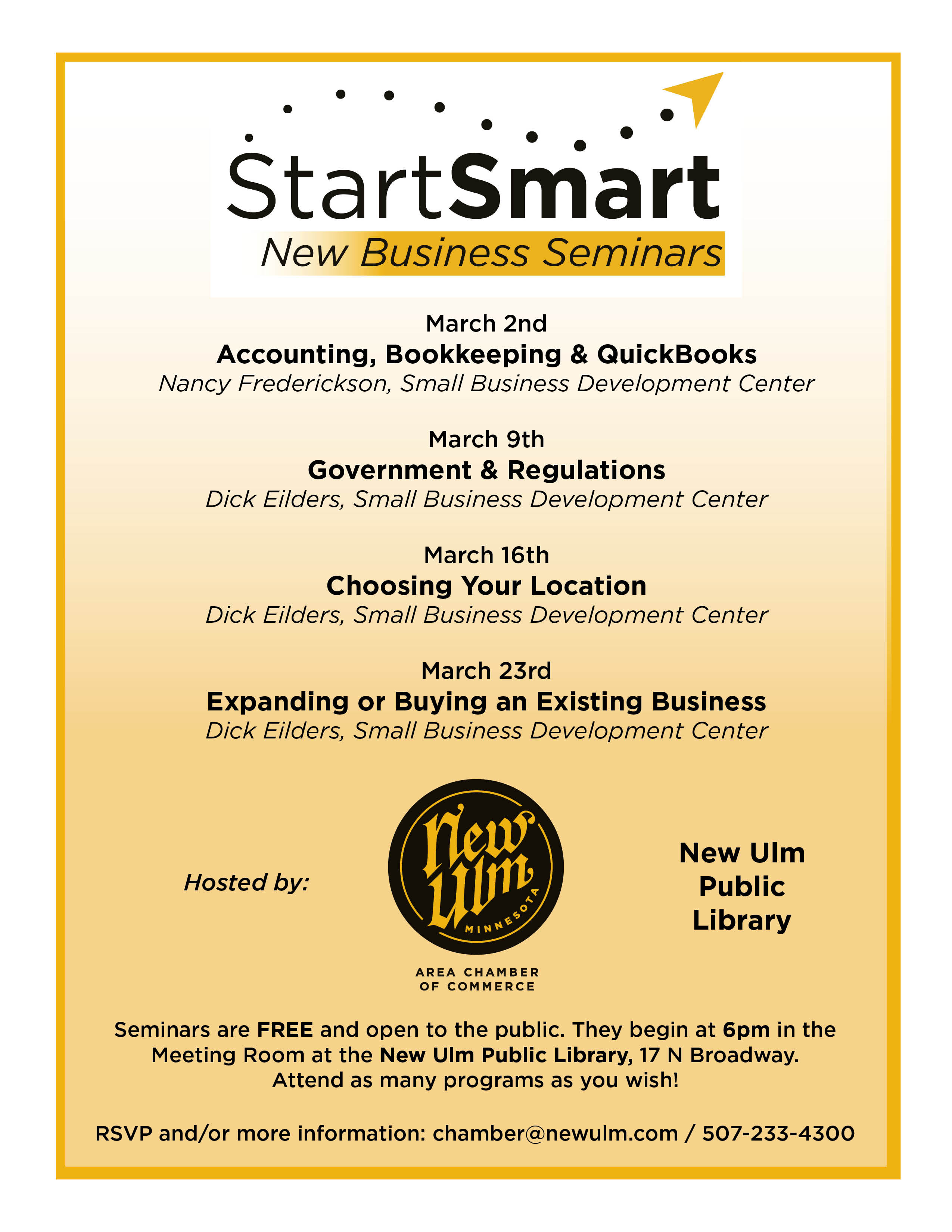 2017 StartSmart flyer Session II