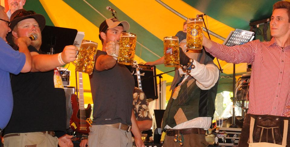 Stein Holding Contest at Bavarian Blast