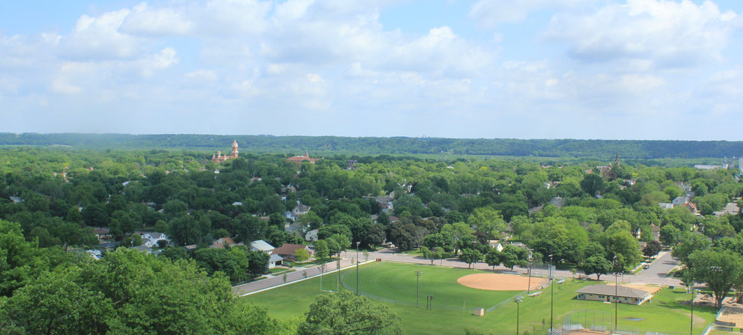 View of New Ulm from Hermann Monument
