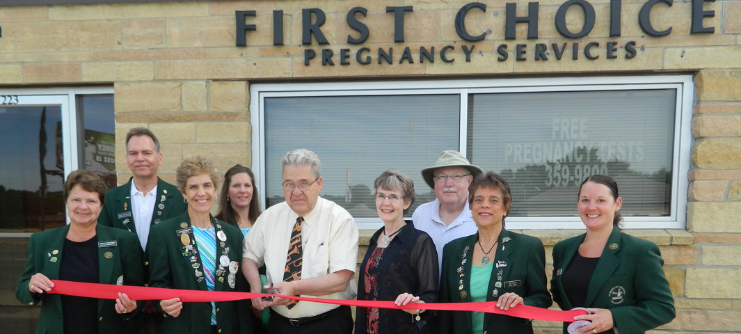 Ribbon cutting, First Choice Pregnancy Services