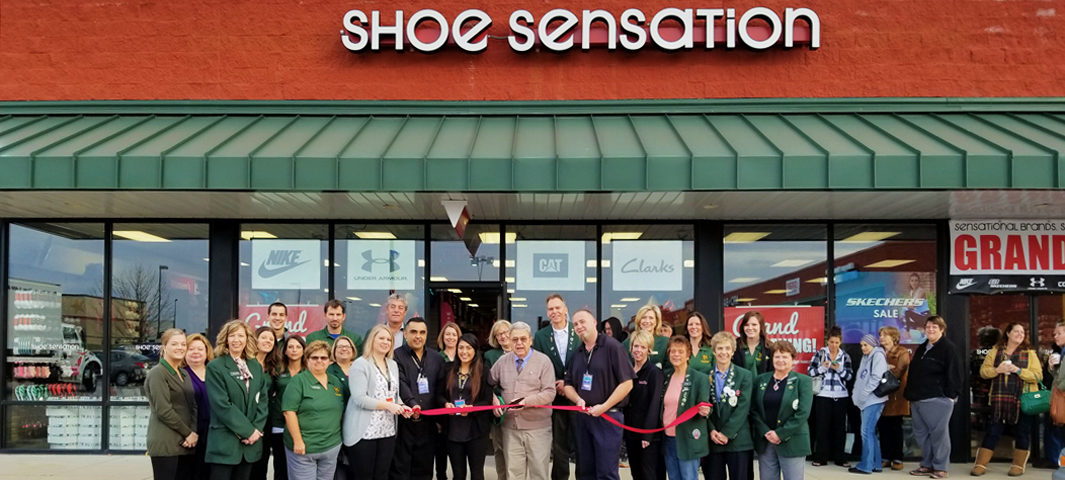 Ribbon Cutting at Shoe Sensation