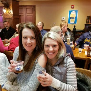 Ladies sampling beer at Schell's Brewery