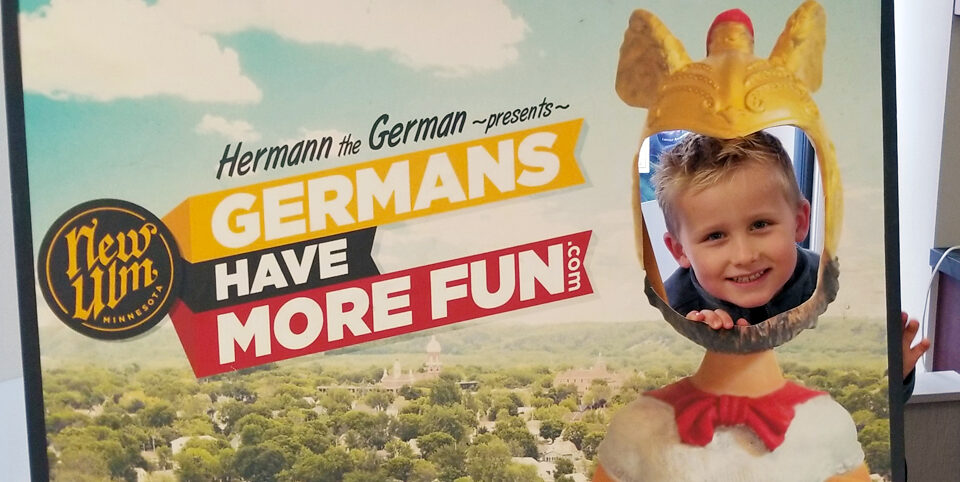 Child in Germans Have More Fun cutout
